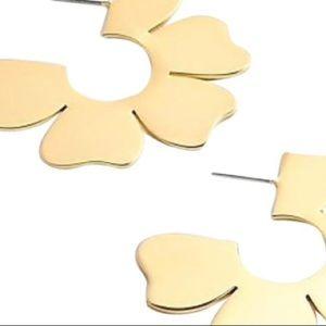 Jcrew Wild Blossom gold earrings